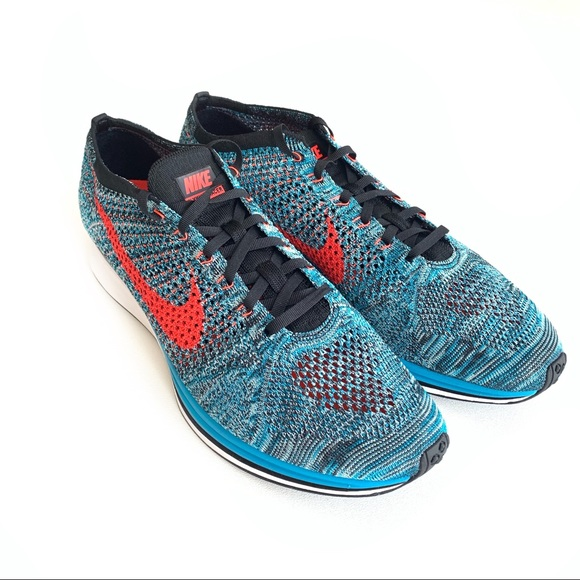 newest collection 06fb8 02bb8 Nike Shoes Flyknit Racer Neo Turquoise Size 13
